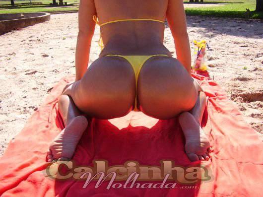 Peladona na praia