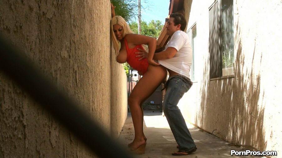 Порно ролик ночью в переулке