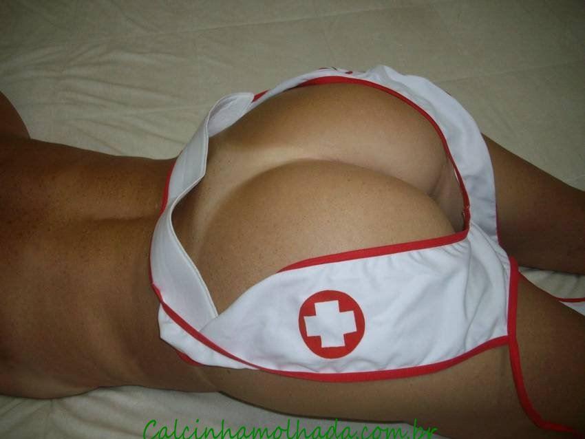 Coroa enfermeira boa de bunda